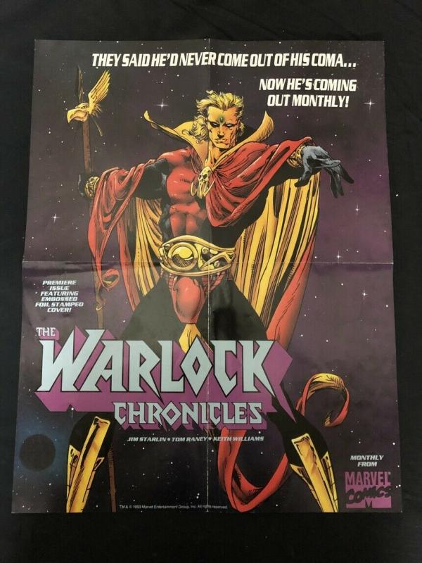 Warlock Chronicles Poster 1993 Marvel Comics