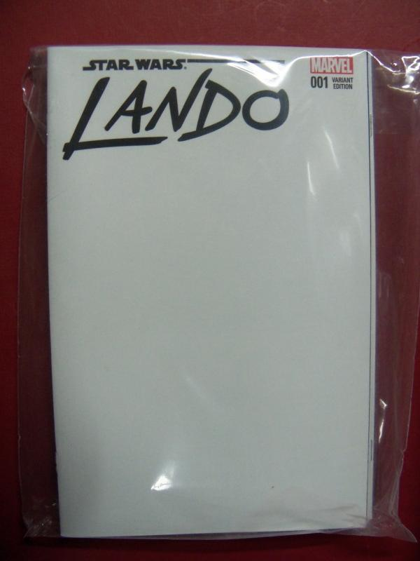 LANDO CALRISSIAN #001 BLANK VARIANT  COVER NM 9.4 MARVEL 2015 SERIES