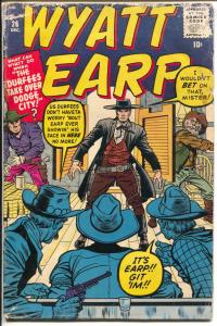 Wyatt Earp #26 1959-Atlas-Jack Kirby-gunsmanship feature-G