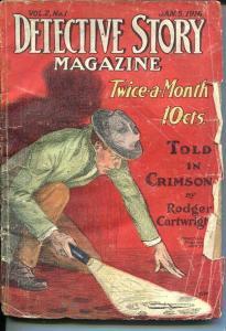 DETECTIVE STORY MAGAZINE-JAN 5 1916- NICK CARTER-CARTWRIGHT-DAVIS-good  G