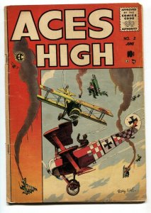 Aces High #2 1955 Aviation War comic book EC