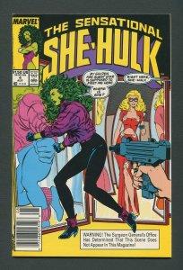 She-Hulk #4  /  9.4 NM - 9.6 NM+   Newsstand  August 1989