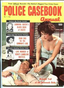 POLICE CASEBOOK ANNUAL #1 1956-PULP-LURID-SOUTHERN STATES PEDIGREE-fn