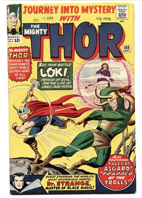JOURNEY INTO MYSTERY #108 1964-MIGHTY THOR HIGH GRADE VF-