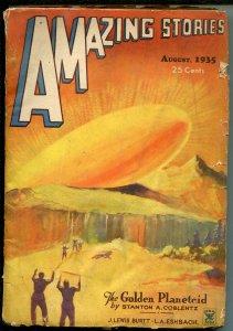 Amazing Stories Pulp August 1935- Rocket cover- Coblentz G