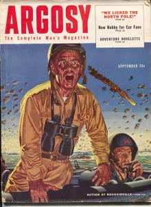 Argosy 9/1952-Popular-Bouganville-WWII sea battle-pulp thrills-crime-mystery-VG
