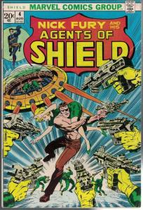 NICK FURY and his AGENT of SHIELD #4, VG+, Jim Steranko, 1973, Jack Kirby