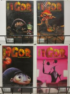 IGOR MOVIE ADAPTATION (2008 IDW) 1-4  COMPLETE! COMICS BOOK