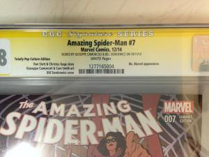 Amazing Spider-Man 7 Total Pop Con Variant CGC 9.8 SS Sienkiewicz & Camuncou