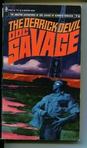 DOC SAVAGE-THE DERRICK DEVIL-#74-ROBESON-VG/FN-FRED PFEIFFER COVER-1ST E VG/FN