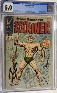 Sub-Mariner #1 (1968) CGC Graded 5.0
