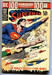 SUPERMAN #252 comic book-1972 DC 100 page issue Neal Adams