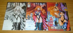 Hellina: X-Mas in Hell #1 VF/NM one-shot comic + 1B + platinum vairant (154/600)