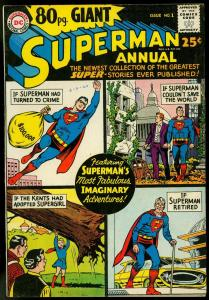 80 Page Giant #1 1964-Superman Annual-DC-Supergirl FN+