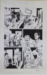 DAVE LAPHAM original art, DAREDEVIL vs PUNISHER #5 pg 4, 2005,11x17, David