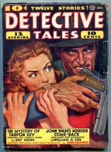 Detective Tales Pulp August 1942- Mystery of Tarpon Key- Day Keene VG+