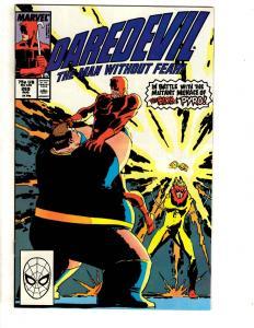 10 Daredevil Marvel Comic Books # 269 270 271 272 273 274 275 276 277 278 CR37