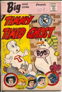 Blue Bird Comics #8 1960-Charlton-Timmy the Timid Ghost-shoe store promo-VG