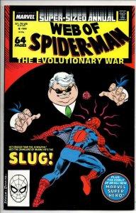 WEB of SPIDER-MAN #4 Annual, VF/NM, Slug, Poison, 1985 1988