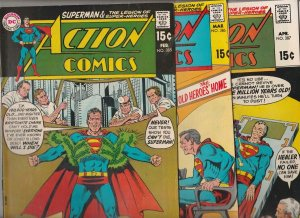 Action Comics Immortal Superman Set #385-386-387 (Feb-70) NM- High-Grade Supe...