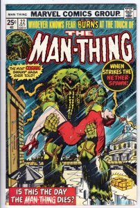Man-Thing #22 (Nov-75) NM- High-Grade Man-Thing