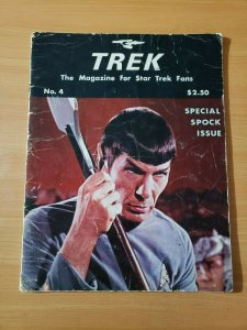 TREK The Magazine for Star Trek Fans #4 Spock Special ~ VERY GOOD VG ~ 1976 RARE