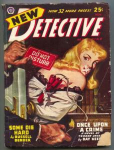 New Detective Pulp November 1946- wild bondage cover