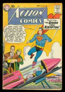 ACTION COMICS #246 1958-DC COMICS-SUPERMAN-KRYPTON DOOM VG