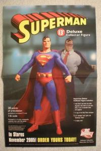SUPERMAN DELUXE COLLECTOR FIGURE Promo Poster, Unused, more in our store