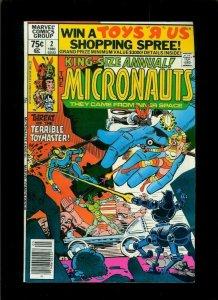 MICRONAUTS #2, VF/NM, Annual, Steve Ditko, Marvel, 1979 1980  more in store