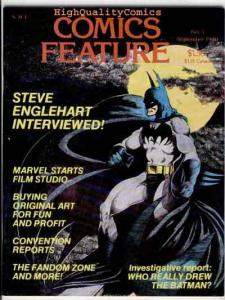 COMICS FEATURE #5, VF, Batman, Englehart, Clubs, 1980