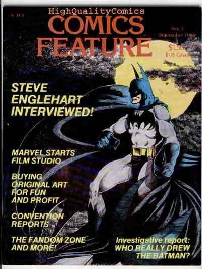 COMICS FEATURE #5, VF, Batman, Englehart, Clubs, 1980