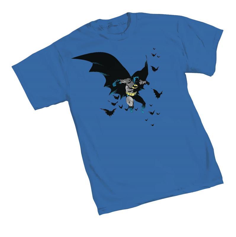 BATMAN & FRIENDS BY MIGNOLA T-SHIRT LARGE GRAPHITTI DESIGNS NEW