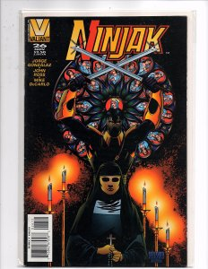Valiant Comics (1994) Ninjak #26 Vol. 1 Last Issue Mike Manley Cover