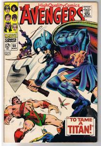 AVENGERS 50, VF, Captain America, Hercules, Titan,1963, more in store