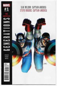 Generations Captain America #1 Cassaday Variant (Marvel, 2017) NM