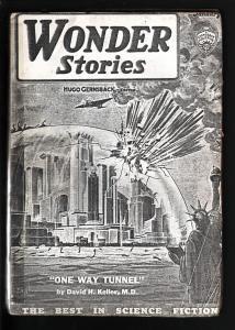 WONDER STORIES 1935 JAN-FRANK R PAUL-SCI FI PULP! FR/G