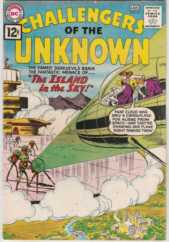 Challengers of the Unknown #23 (Jan-62) FN/VF Mid-High-Grade Challengers of t...
