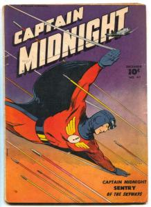 Captain Midnight #47 1946-Fawcett Golden Age incomplete