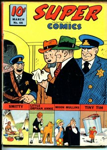 Super #46 1942-Dell-Chester Gould-Dick Tracy-Moon MUllins-Sky Ranger-VG