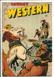 Cowboy Western #49 1954-Indian fight cover-Dick Giordano-Golden Arrow-Rocky L...
