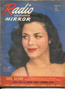 Radio And Television Mirror-Carol Bruce-Gene Autry-Jack Benny-Kate Smith-Feb-194