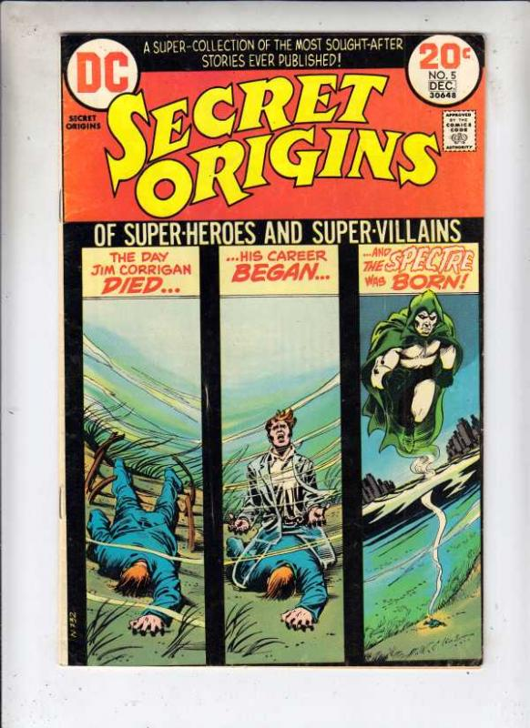 Secret Origins #5 (Dec-73) VF High-Grade The Spectre