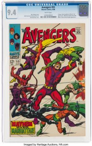 The Avengers #55 (1968) CGC Graded 9.4