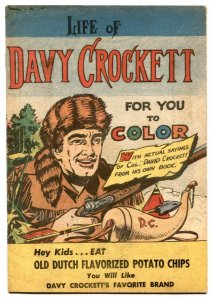 Life of Davy Crockett Rare Promo comic 1955