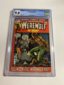 Werewolf By Night 1 Cgc 9.0 Ow/w Pages Marvel Bronze Age