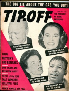 Tip-Off #1 4/1956-1st issue-Gypsy Rose Lee-commies-scandals-exploitation-VG