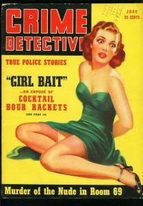 CRIME DETECTIVE JUNE 1940-TRUE CRIME-NUDISM-BOXING-SHOTUGN MURDER-VG VG