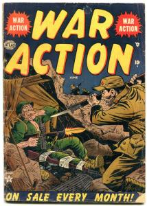 WAR ACTION #3 1952-RED MENACE-ATLAS COMICS-KOREAN WAR VG-