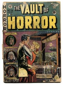 VAULT OF HORROR #18 EC pre-code horror 1951-Wishing Well cover